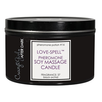 Love-Spell Black Orchid Soy Massage Candle in 6oz