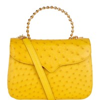 Lana Marks Ostrich Frozen Chain Bag Yellow | Harrods