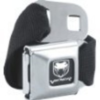 Official DODGE VIPER Seat Belt belt and buckle combo canvas
