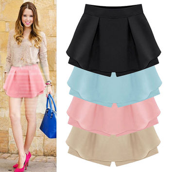 Pleat Skirt With Shorts