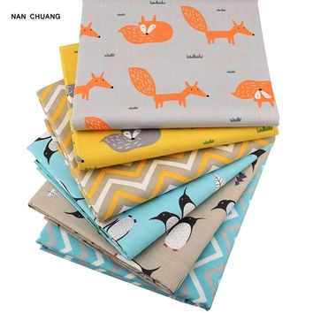 Nanchuang Fox 6pcs/lot Patchwork Cotton Fabric For Baby&Children Doll Cover Bedding DIY Sewing Quilting Fat Quarters Material