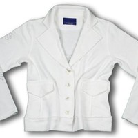 Reebok Womens TURN BACK TIME Blazer, Light Jacket, White