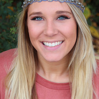 Silver, Gold, and Grey Boho Jeweled Headband