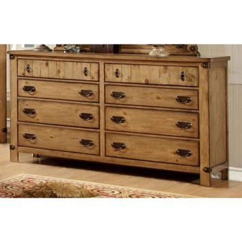 Trendy Cottage Style Wooden Dresser, Weathered Elm Brown By Casagear Home