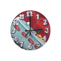 All American Diner Restaurant Round Wallclock from Zazzle.com