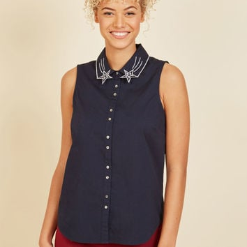 Rekindled Radiance Sleeveless Top | Mod Retro Vintage Short Sleeve Shirts | ModCloth.com