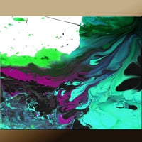 Abstract Art Print - 11x14 Contemporary Modern Fine Art by Destiny Womack  - Riding The Wave - dwo