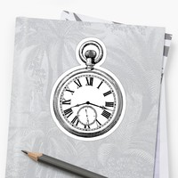 'Pocket Watch' Sticker by Dave42