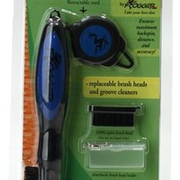 Frogger BrushPro Retractable Dual-Bristle Club Brush/Groove Cleaner