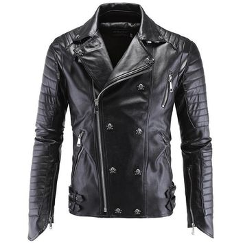 Fashion Winter Leather Jacket Men