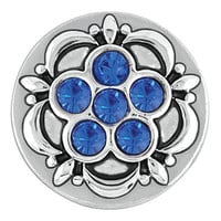 Ginger Snaps Petite Six Stone Flower Sapphire Snap
