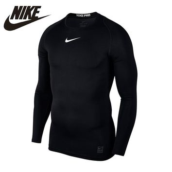 NIKE Long Sleeved T-shirt for Training Flexible Quick Dry Breathable For Men#838078-010