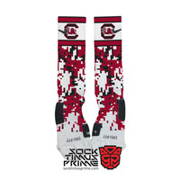 Custom Nike Elite Socks - South Carolina Gamecocks Custom Nike Elites - USC Socks, Custom Elites, South Carolina Socks