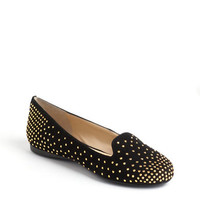 Enzo Angiolini Omanie Embellished Suede Loafers