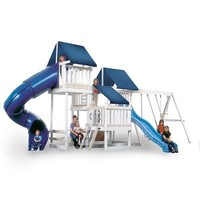 Congo Monkey Playsystem #4 with Swing Beam in White / Sand