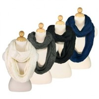 TrendsBlue Premium Winter Thick Infinity Twist Cable Knit Scarf - Diff Colors Avail.