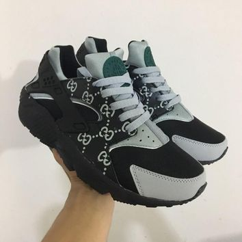 NIKE x GUCCI AIR Huarache Running Sport Casual Shoes Sneakers