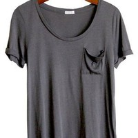 Relaxed Like My Boyfriend Tee, Olive - Conversation Pieces