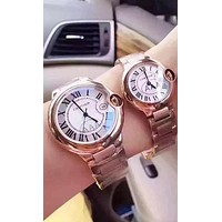 Cartier Ladies Men Fashion Trending Quartz Watches Wrist Watch Sliver G-YF-GZYFBY