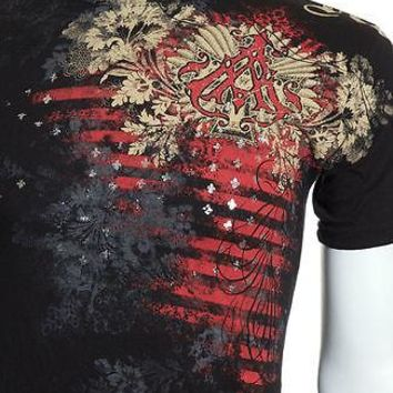 Licensed Official Archaic AFFLICTION Mens T-Shirt WALLPAPER Biker UFC American Fighter M-4XL $40