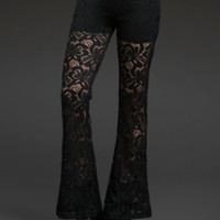 Lace Bell Bottom Pants