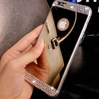 Super Shine Mirror iPhone 7 se 5s 6 6s Plus Case Cover + Gift Box-118