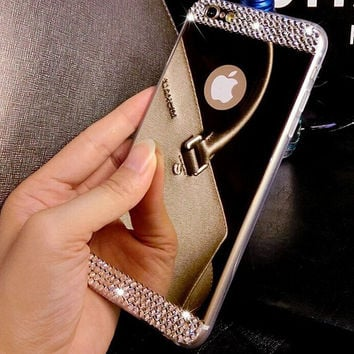 Shine Mirror iPhone X 8 7 7Plus & iPhone 6s 6 Plus Case Cover + Gift Box