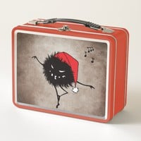 Singing And Dancing Evil Christmas Bug Metal Lunch Box