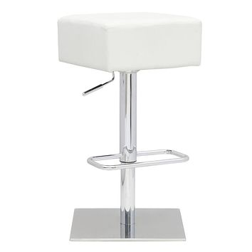 Marshmallow Adjustable Barstool, White