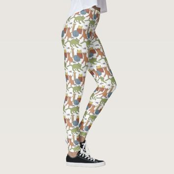 Colorful Cats Being Cats Leggings