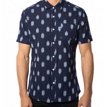 7 Diamonds Three Seeds Ikat Print Sport Shirt
