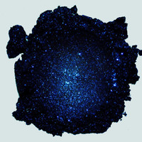 Starry Night - Black With Sapphire Blue Glitter - Carina Dolci Mineral Eye Candy Shadow VEGAN