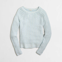 Factory tuck-knit boatneck sweater