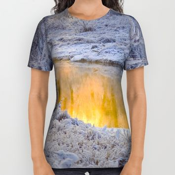 It's Gold Outside All Over Print Shirt by Mixed Imagery