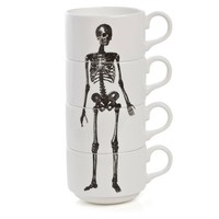 Skeleton Espresso Cup Stack | Phoebe Richardson | Wolf & Badger