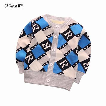 New Autumn Winter Knitted Plus Velvet Warm Baby Sweate Outerwear Coats Newborn Boys Girls Sweater Baby Clothes