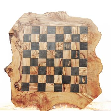 Large Rustic Wooden Chess Board Set, Monogrammed Chess Set Board Game, Dad gift, Boyfriend Gift, Birthday Gift