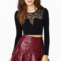 Nasty Gal Love Song Crop Top