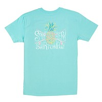 Painted Pineapple Tee in Blue Radiance by The Southern Shirt Co. - FINAL SALE
