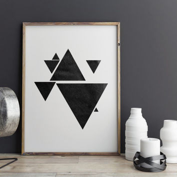Geometric print Watercolor abstract Abstract design Wall decor Simple art Muted colors Abstract art Minimalist art Geometric art