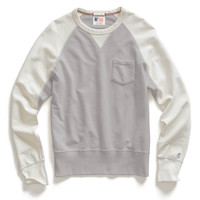 Contrast Sleeve Sweatshirt in Oxford Grey