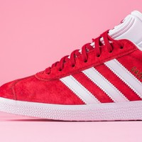Power Red Pigskin Leather Covers The Latest adidas Gazelle • KicksOnFire.com