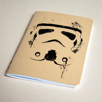 Star Wars notebook Handmade Stormtrooper by purplecactusdesign