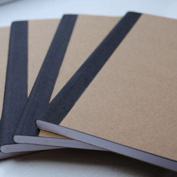 Plain Brown Doodling Wide Ruled Composition Notebook Set of 4