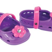 Ballerina Doll Shoes, 18 Inch Doll Shoes fit American Girl Dolls, Purple Ballerina Doll Sandals