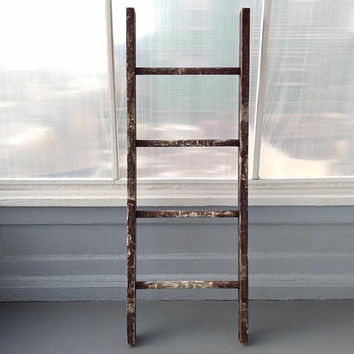 Antique, Ladder, Orchard Ladder, Wide, Rustic, Wood, Blanket Display, Quilt Rack, Country Chic, Farmhouse Decor, RhymeswithDaughter