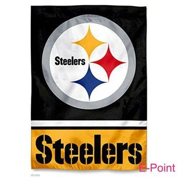 Pittsburgh Steelers 3ft*5ft (90*150cm) Size Christmas Decorations for Home Flag Banner Gifts