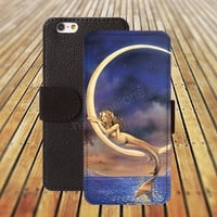 silver mermaid colorful iphone 5/ 5s iphone 4/ 4s iPhone 6 6 Plus iphone 5C Wallet Case , iPhone 5 Case, Cover, Cases colorful pattern L043