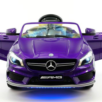 Mercedes CLA45 AMG 12V Kids Ride-On Car with Parental Remote | Purple Metallic