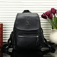 YSL New fashion leather women backpack bag Black